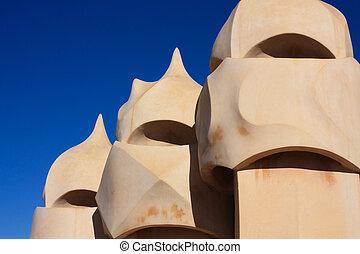Barcelona and Gaudi: La Pedrera or Casa Mila