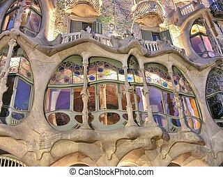 BARCELONA - APR 24: Casa Mila or La Pedrera on April 24, 2008 in