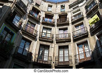 barcelona balconys - balconys in barcelona in ciutat vella,...