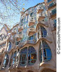 Barcelona Casa Batllo facade of Gaudi