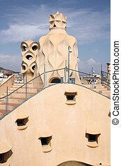 Barcelona - Casa Mila - Beautiful modernisme architecture by...