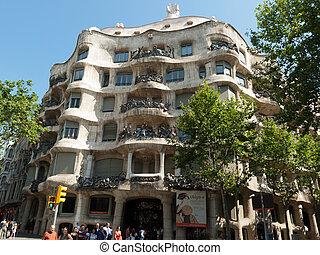 Barcelona - Casa Mila - BARCELONA, SPAIN - JUNE 28, 2008:...