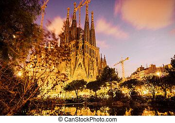 Barcelona. Catalonia, Spain. Vintage retro style - SPAIN - ...