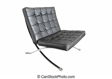 barcelona chair isolated on white with clipping path
