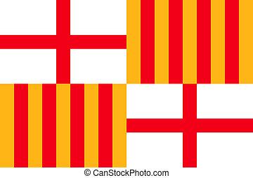 Barcelona City Flag