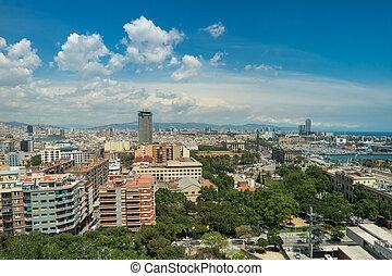 Barcelona city on a sunny day