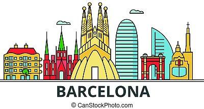 Barcelona city skyline.
