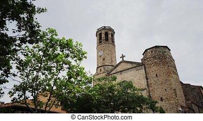 Barcelona city streets in Catalonia Spain historical...