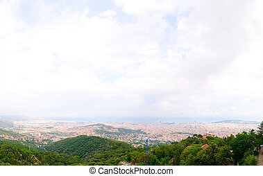 Barcelona city view - city view from Tibidabo park,...