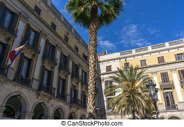barcelona, ciudad, cuadrado