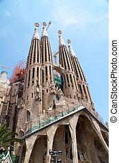 barcelona, españa, -, poder, 23:, sagrada familia, -, el,...
