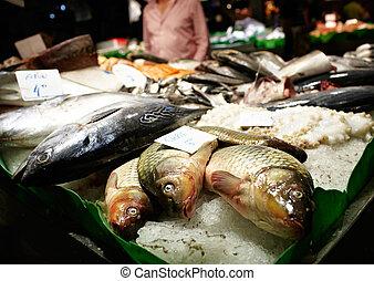 Barcelona fish market.