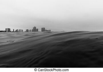 Barcelona from Sea - Poble Nou from the Sea