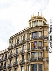 Barcelona Hotel with Iron Balconies