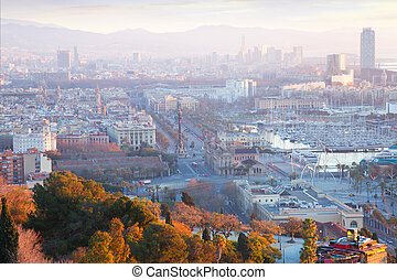 Barcelona in early morning