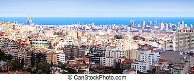 Barcelona in sunny day. Spain
