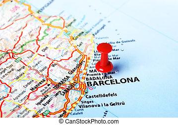 barcelona, karta