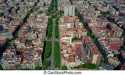 barcelona, mieszkanie, domy, kloce, próbka, i, major, ulica,...