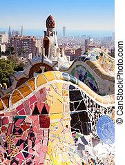 Barcelona Park Guell of Gaudi modernism - Barcelona Park ...
