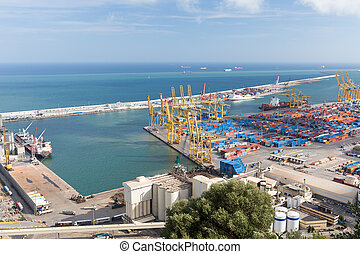 Barcelona Port View