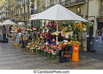 Barcelona Rambla of flowers