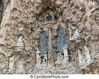 Barcelona Sagrada Familia - Different details of the temple...
