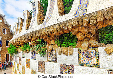 BARCELONA - SEPT, 02:Gorgeous and amazing Park Guel in ...