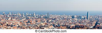 Barcelona skyline panorama