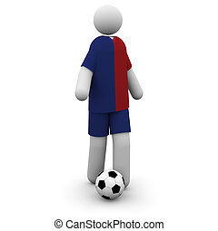 Barcelona Soccer Player at the 2009 European Championships...