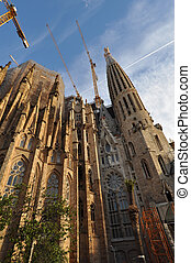 Sagrada Familia - BARCELONA, SPAIN - 30 DECEMBER, 2009:...