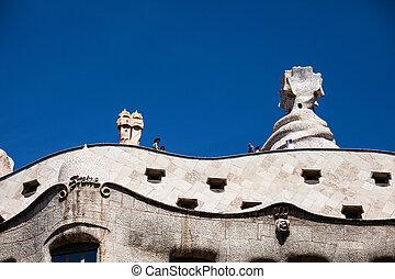 BARCELONA, SPAIN - APRIL 13: Casa Mila (La Pedrera) on April...