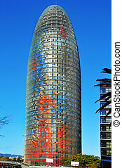 Barcelona, Spain - BARCELONA, SPAIN - JANUARY 22: Torre...
