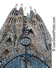 La Sagrada Familia - the impressive cathedral designed by...
