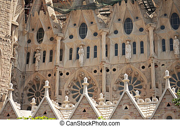 Sagrada Familia - BARCELONA, SPAIN - JUNE 29, 2010: La...