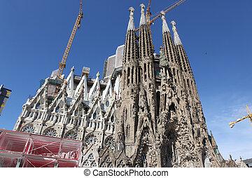 BARCELONA SPAIN - JUNE 9: La Sagrada Familia - the...