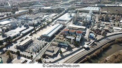 Industrial background with Martorell Site of large INOVYN ...