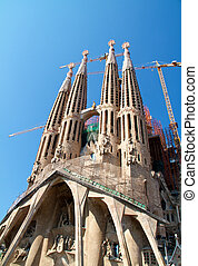 BARCELONA, SPAIN - May 23: La Sagrada Familia - the...