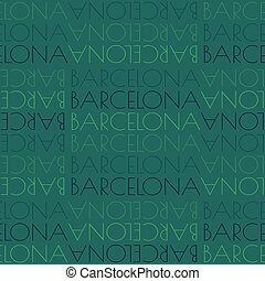 Barcelona, Spain seamless pattern