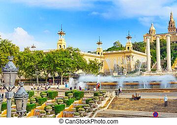 BARCELONA, SPAIN -  SEPT 04: National Art Museum of Catalonia. M