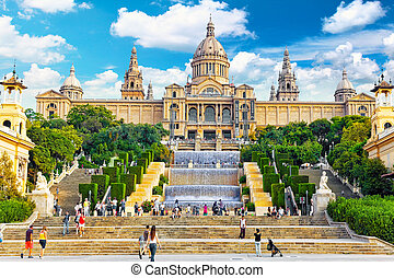 BARCELONA, SPAIN -  SEPT 04: National Art Museum of Catalonia. M