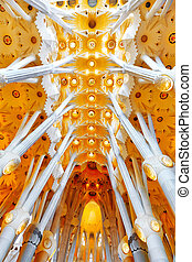 BARCELONA, SPAIN - SEPTEMBER 04: Sagrada Familia,beautiful...