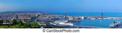 Barcelona, Spain skyline panorama - Barcelona, Spain at ...