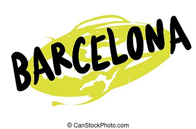 BARCELONA sticker stamp