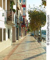 Barcelona suburban street