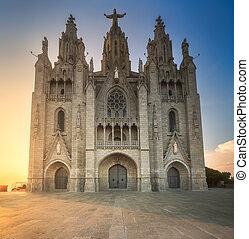 barcelona, templo, tibidabo, espanha