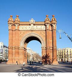 barcelona, triunfo, del, arco, arco, triunfo
