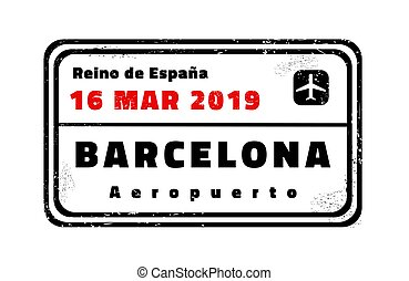 Barcelona vector stamp