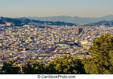 barcelone, cityscape, négliger