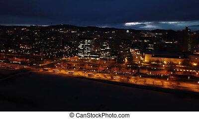barcelone, soir, cityscape