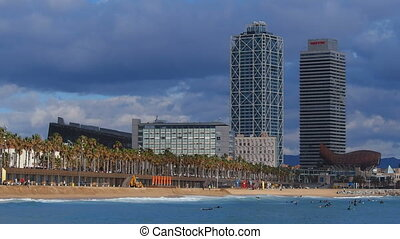 Barceloneta Beach in Barcelona